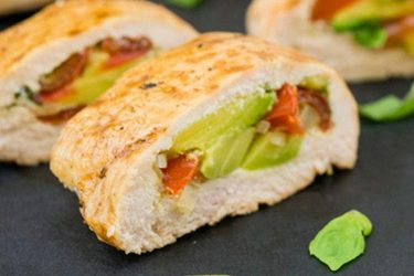 Avocado-Stuffed Chicken Breast Rolls