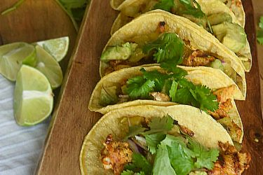 Annatto Grilled Chicken Tacos With Pineapple and Avocado