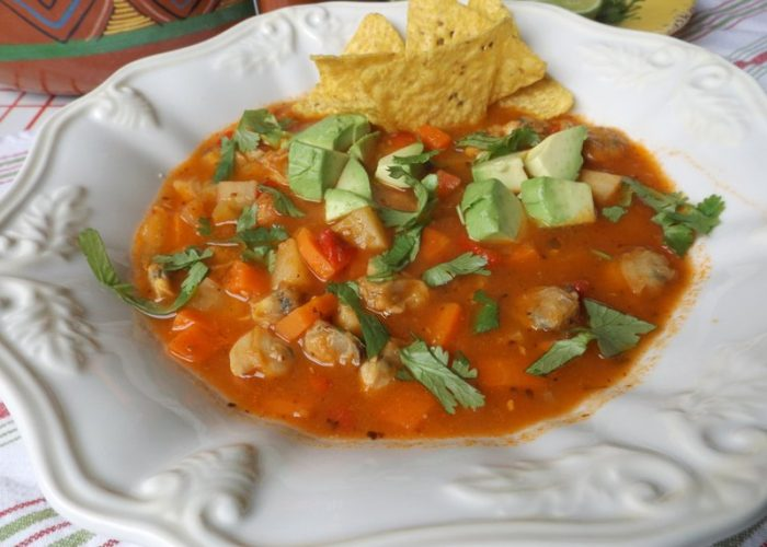 Mexican Tomato and Clam Chowder, photo by Sonia Mendez Garcia