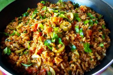 Mexican Brown Rice, photo by Sonia Mendez Garcia