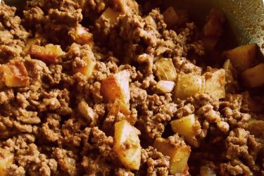 Mom's Beef Picadillo With Potatoes