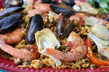 Healthy Seafood Paella