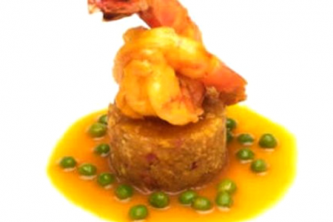 Plantain Mofongo With Shrimp