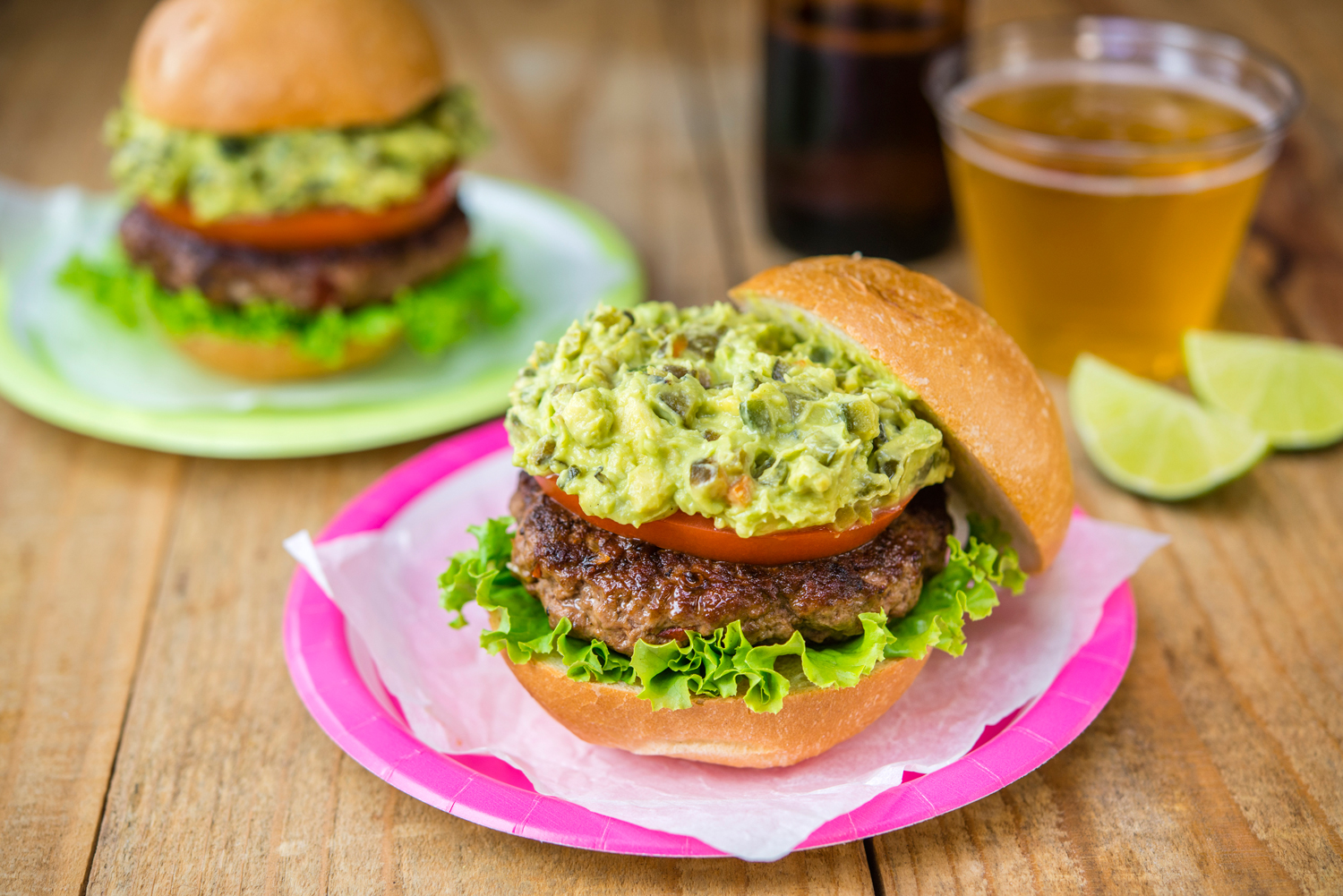 Chipotle Avocado Burger with Chile Poblano