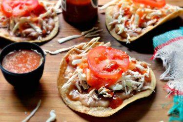 Tostadas de Lomo Estilo Jalisco (Shredded Pork Tostadas Jalisco Style)