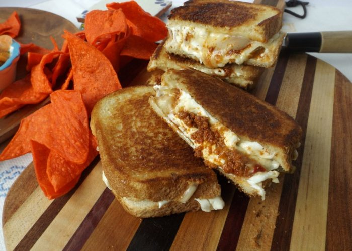 Cook for a few minutes, pressing gently with a spatula. If you can cover the sandwiches with a lid, this will help create steam so the cheese will melt quicker. Once browned and crispy, flip over and cook for 2-4 minutes. Remove from heat and let sit for a few minutes before enjoying.