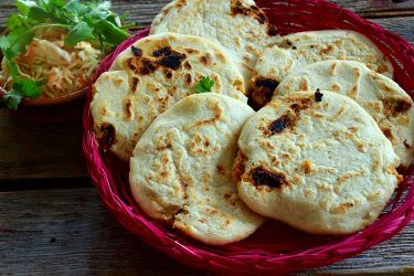 Pupusas de Chicharrón (Salvadoran Pork-Stuffed Masa Cakes), photo by Suellen Pineda, RDN, CDN