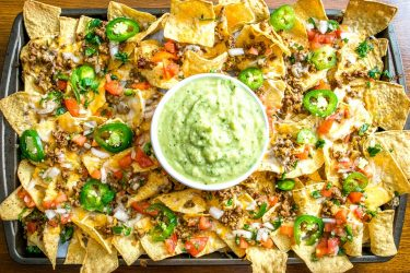 Spicy Ground Beef Nachos, photo by Mexican Please