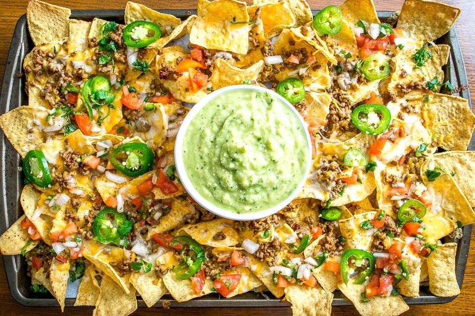 spicy ground beef nachos recipe nacho chips with salsas
