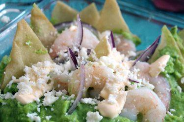 Shrimp Chilaquiles Casserole