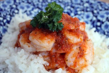 Tequila Chipotle Shrimp with White Rice