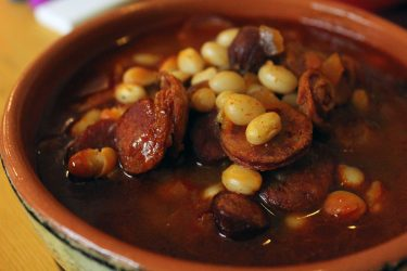 Fabada Asturiana (Pork and Bean Soup), photo by Fernanda Alvarez