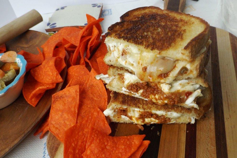 Chorizo Jalapeño Grilled Cheese Sandwich