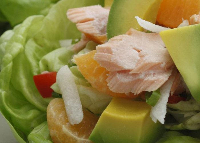 Lettuce Cups with Avocado, Tangerine and Salmon, photo by Fresh Avocados - Love One Today