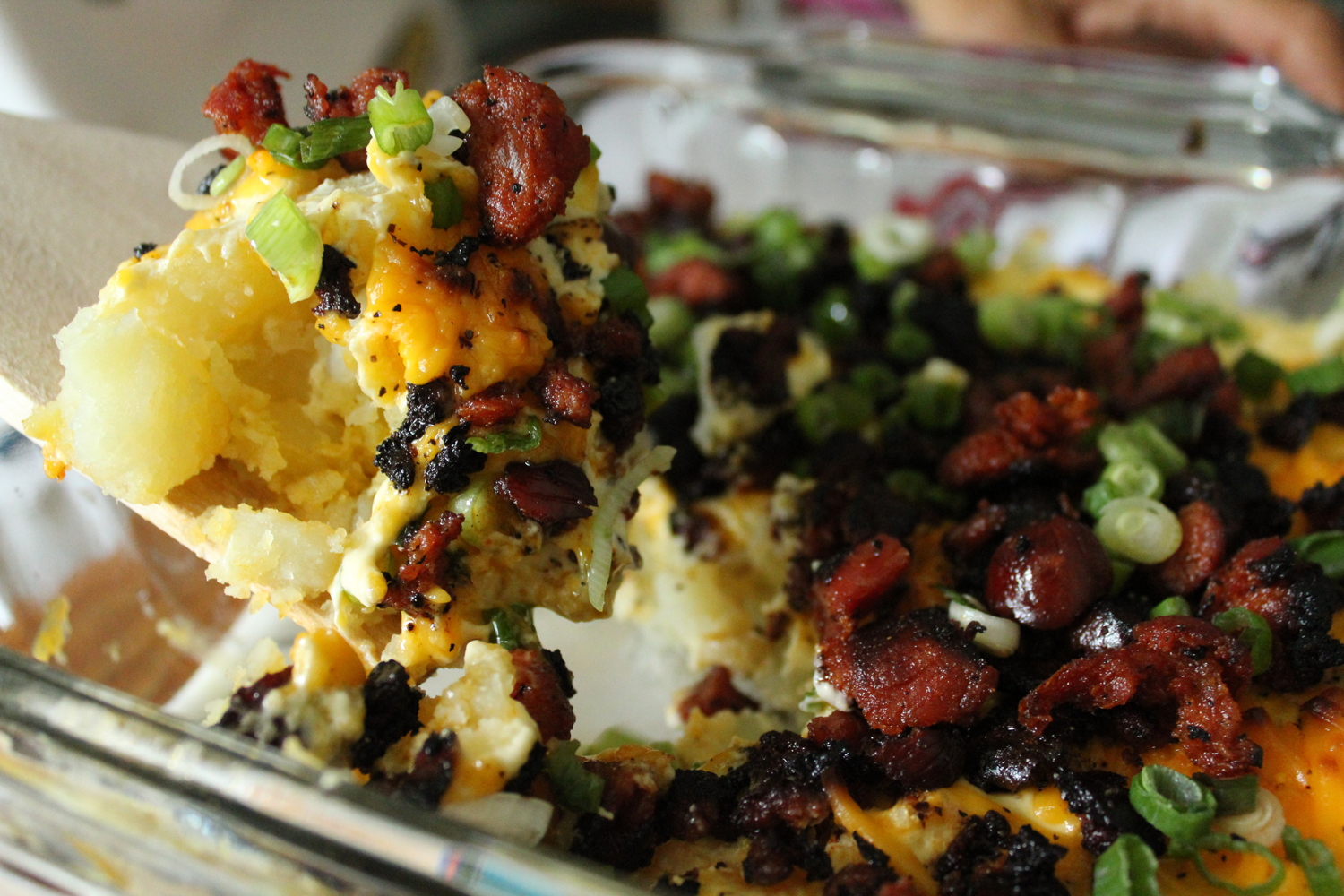 Loaded potato and chorizo casserole