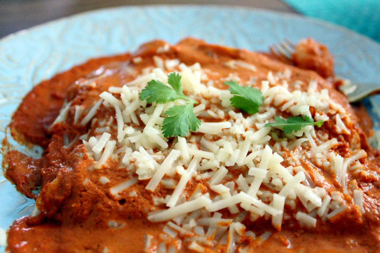 15 Minute Shrimp & Chipotle Enchiladas