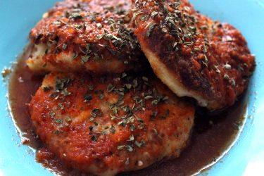 Potato Tortitas in Tomato and Guajillo Sauce