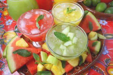 Trio of Agua Frescas (Fruit Waters)