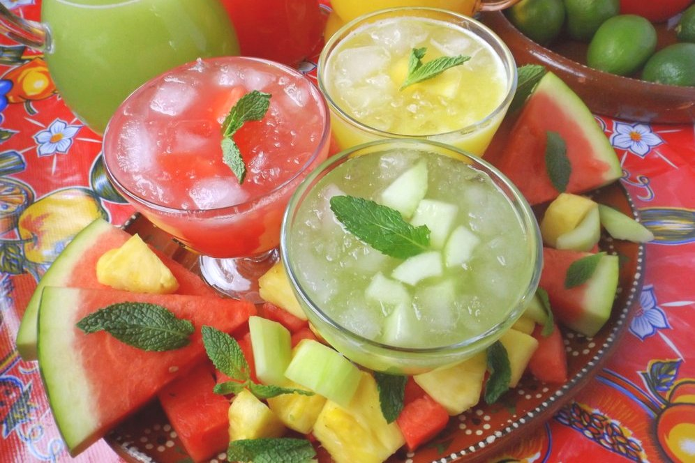 Trio of Agua Frescas (Fruit Waters)
