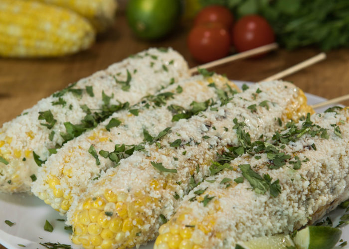 Spread a little bit of the mix over each ear of corn. Transfer to the grill and cook, turning occasionally until the corn is golden and tender, approximately 10 minutes.