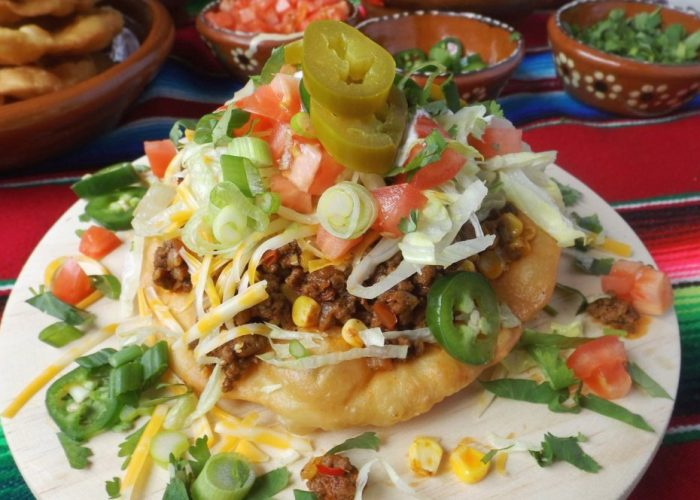 Navajo Tacos (Easy Fry Bread Recipe), photo by Sonia Mendez Garcia