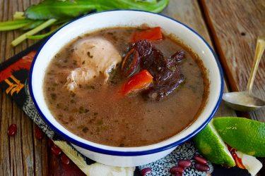 Sopa de Frijoles Hondureña (Slow Cooker Honduran Bean Soup)