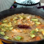 Caldo Tlalpeño (Chicken soup with rice and vegetables)