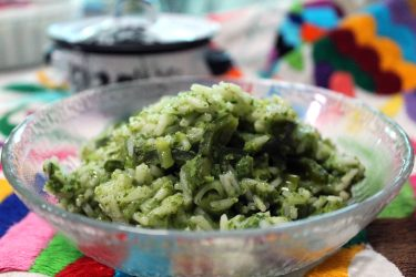 Creamy Poblano and Cheese Rice, photo by Fernanda Alvarez