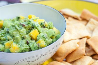 Mango-Tomatillo Guacamole, photo by Hispanic Kitchen