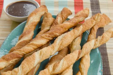 Dulce de Leche and Mexican Hot Chocolate Fondue Pastry Twists