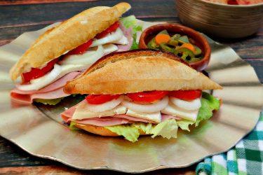 Classic Mexican Torta de Jamón Sandwich