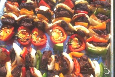 Brochetas de Res Asadas (Grilled Beef Kabobs), photo by Sonia Mendez Garcia