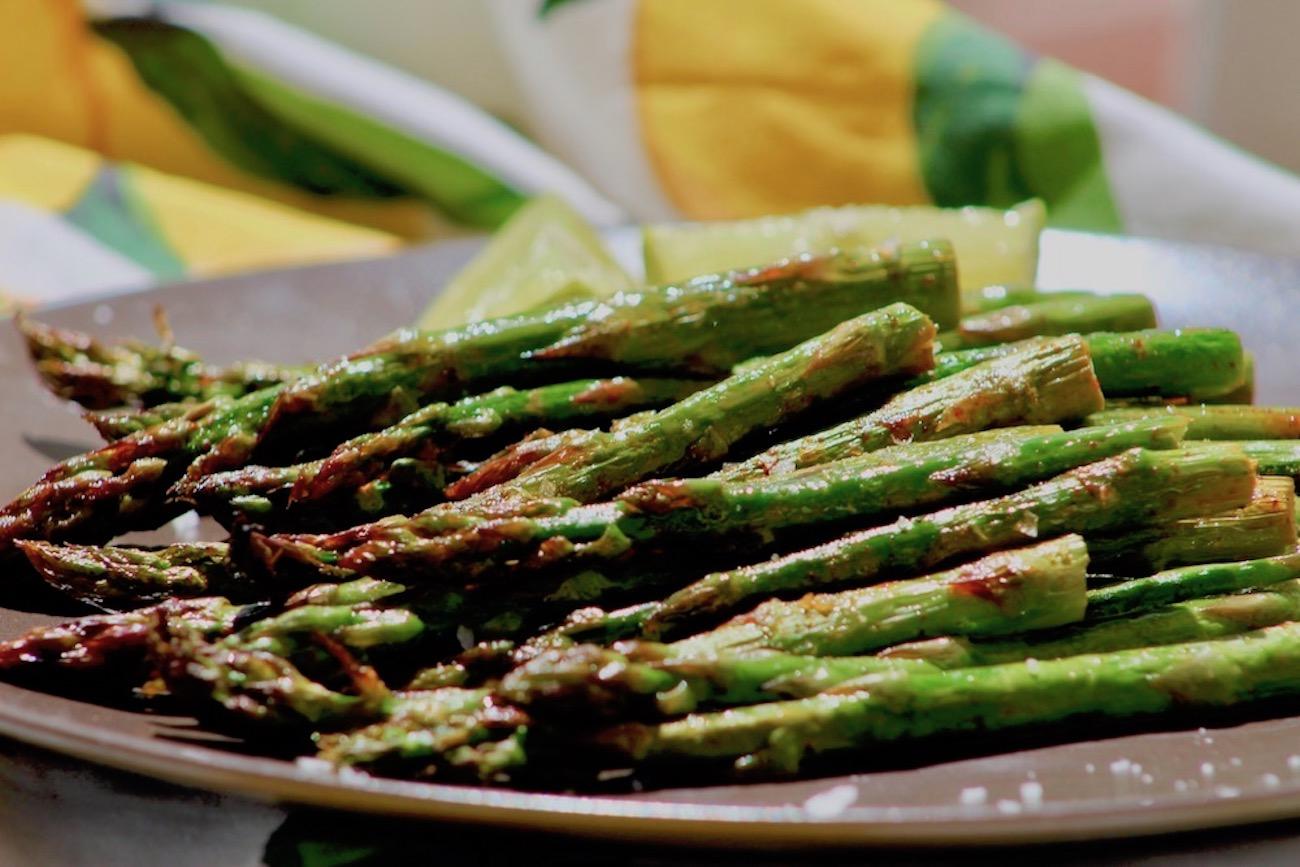 Lime Paprika Grilled Asparagus