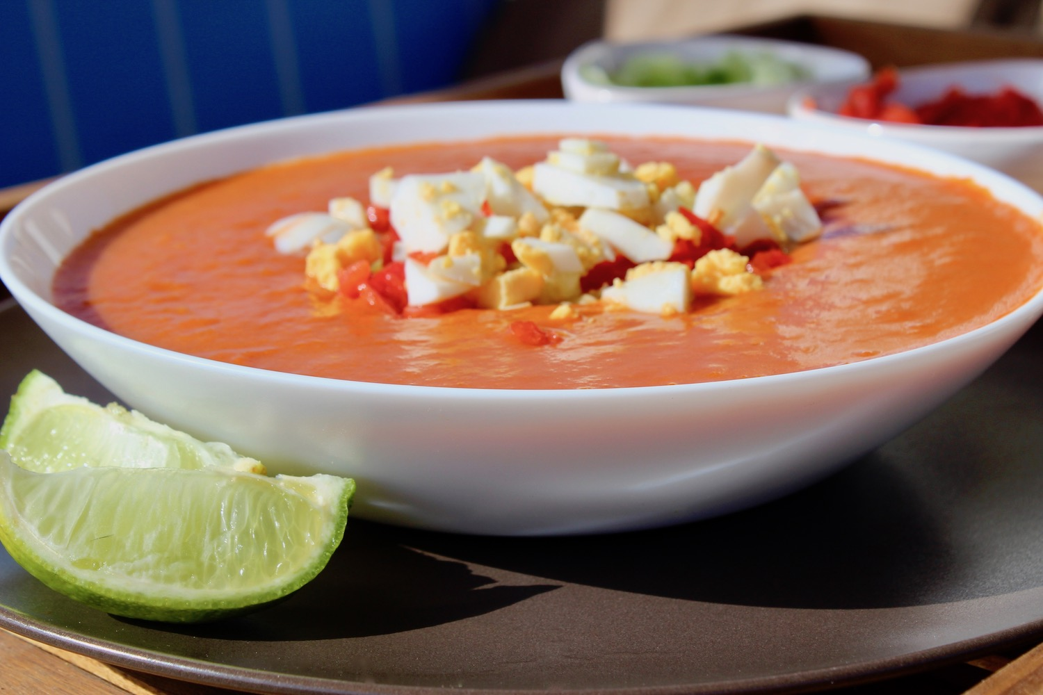 Perfect Gazpacho With All The Trimmings