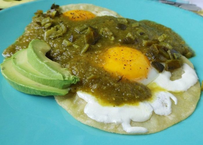Huevos Rancheros Poblanos (Poblano Eggs), photo by Sonia Mendez Garcia