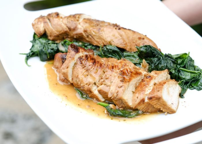 Add to your choice of protein, like this simple yet elegant grilled chicken with wilted spinach.