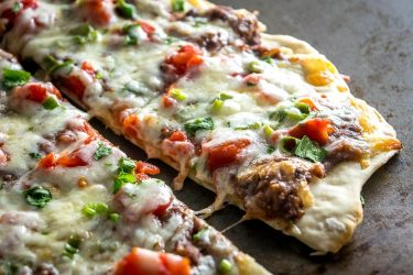 Spicy Black Bean Pizza