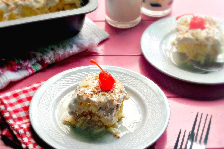 Piña Colada Tres Leches Cake