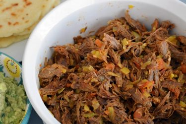 Carne Desmechada (Colombian Shredded Beef), photo by Sweet y Salado