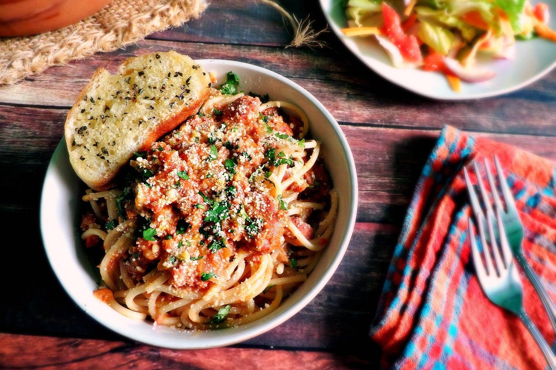 Chipotle Chorizo Spaghetti