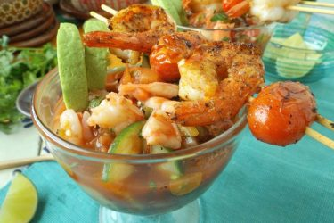 Fire-Roasted Mexican Shrimp Cocktail, photo by Sonia Mendez Garcia