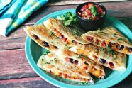 Sweet Potato Chorizo Black Bean Quesadillas