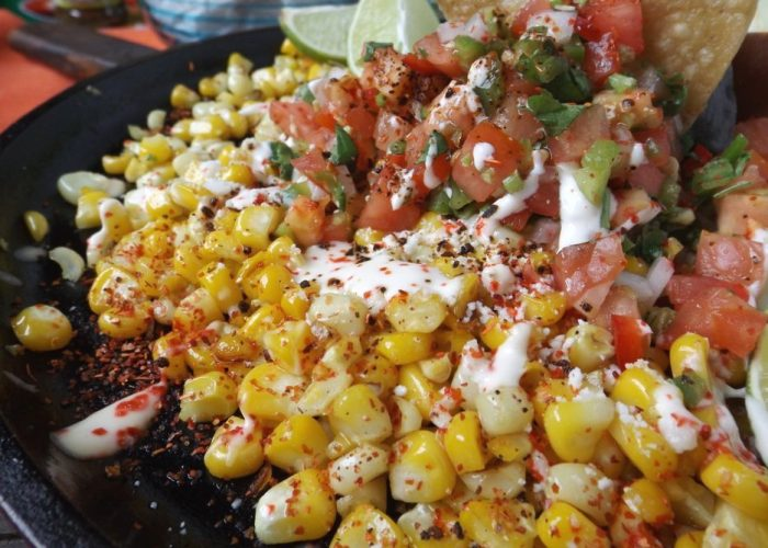 Esquites Tostados (Mexican Toasted Corn), photo by Sonia Mendez Garcia