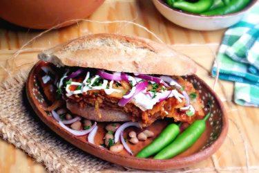 Torta de Chilaquiles (Mexican Breakfast Sandwich)