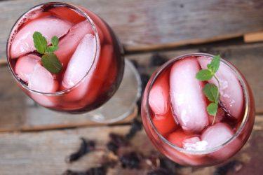 Agua de Jamaica (Hibiscus Flower Iced Tea)