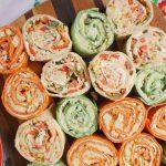 Cheese and Bean Tortilla Roll Ups (Pinwheels)