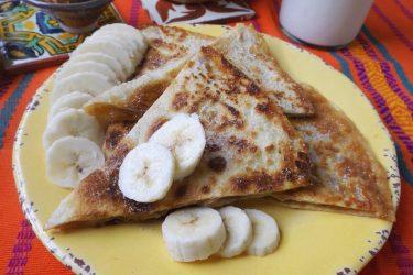 Peanut Butter & Banana Quesadillas with Dulce de Leche