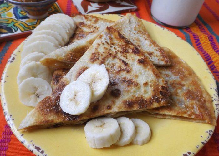 Peanut Butter & Banana Quesadillas with Dulce de Leche, photo by Sonia Mendez Garcia