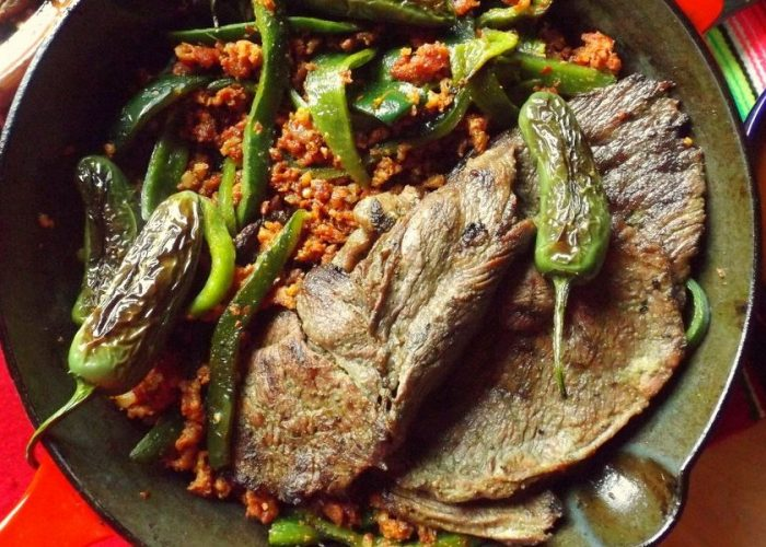 Carne Asada con Chorizo, photo by Sonia Mendez Garcia
