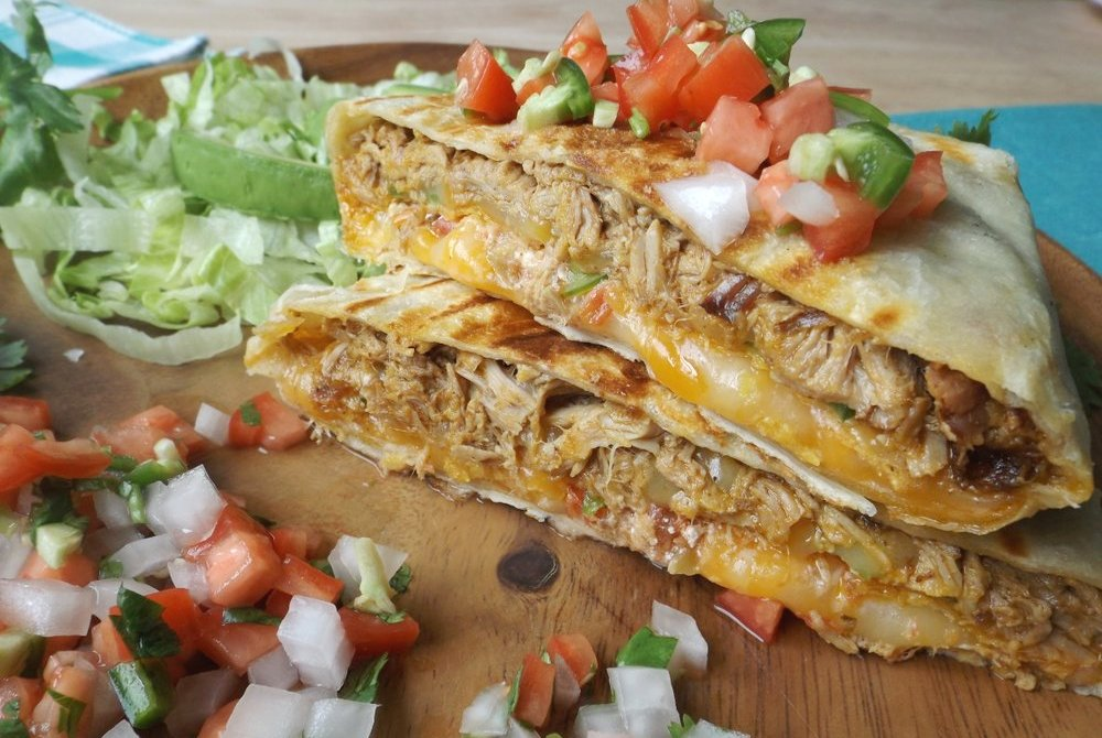 Shredded Pork Crunchwrap (Stuffed Quesadilla)